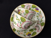 NOT AVAILABLE NEW HALL c1810 trio of cups and saucer